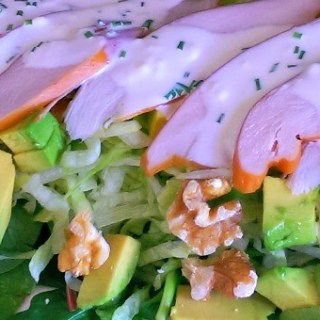 Groene Salade met Gerookte Kip