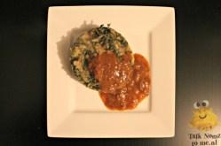 Gevulde vleessaus met sucadelappen