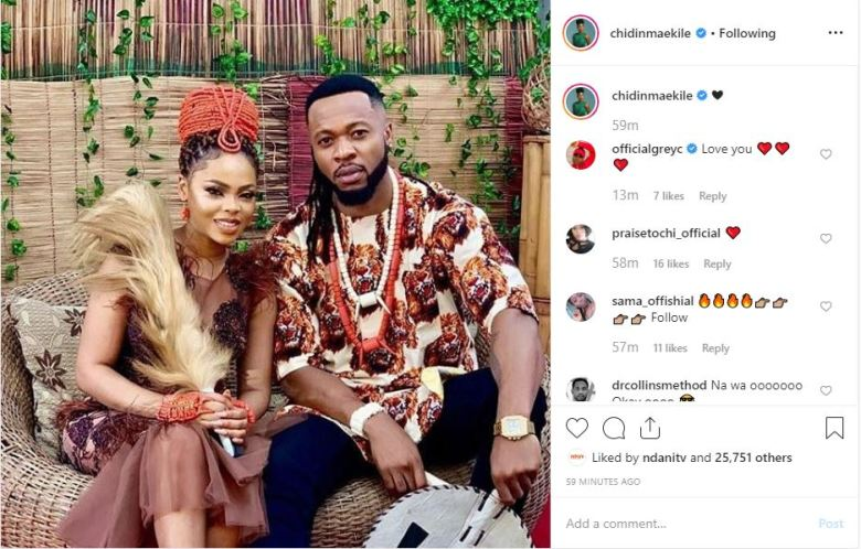 Image result for Caption this new photo of Flavour and Chidinma