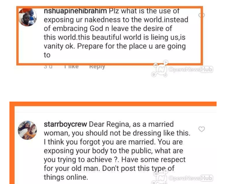"""""""What is the use of exposing your nakedness"""" - Fans blast Regina Daniels after she posted this photo – Talk of Naija"""