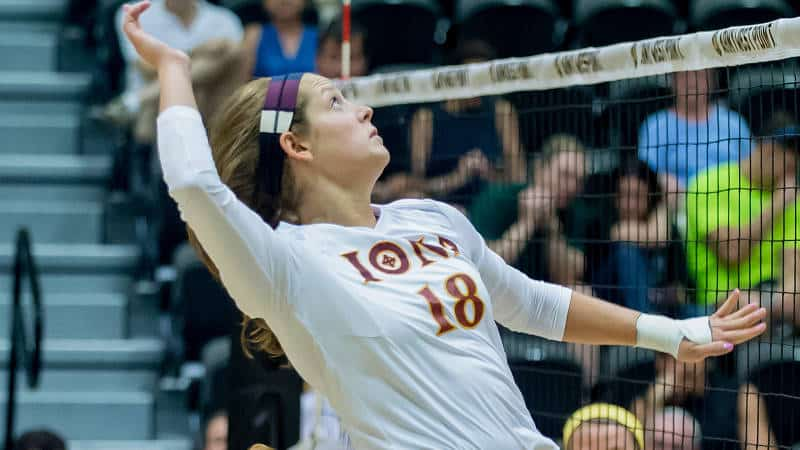 Iona Volleyball Takes Out MAAC Leading Rider In Four
