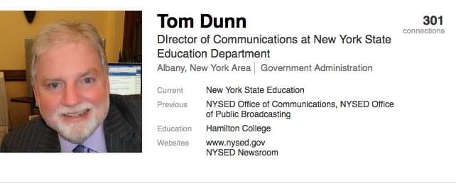 NYSED Communications Director has been stonewall on Smith for years