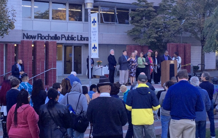 New Rochelle Turns Out for Renaming Ceremony at Ruby Dee Park at the Library Green