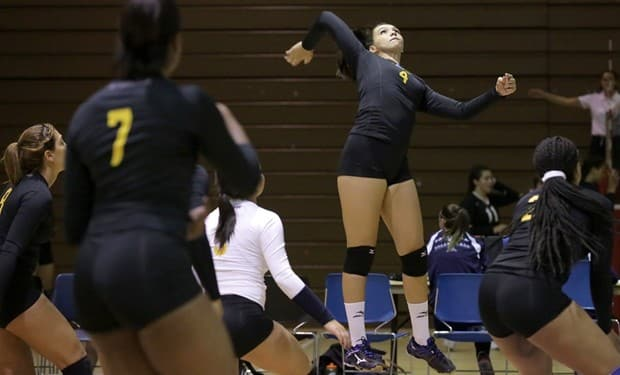Volleyball Remains Unbeaten with 3-0 Shutout at Suffolk