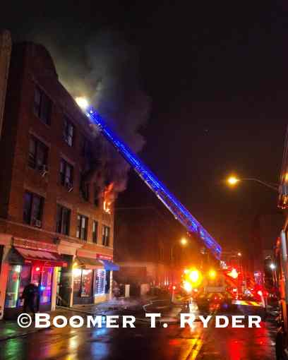 Fire at 77 Centre Avenue (photo credit Boomer T. Ryder)