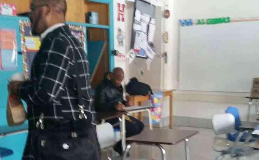 Freddie Dean Smith in a BTN Baltimore classroom