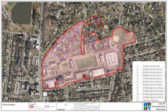 iona college campus map Iona College Files Request With City To Expand Campus Footprint iona college campus map