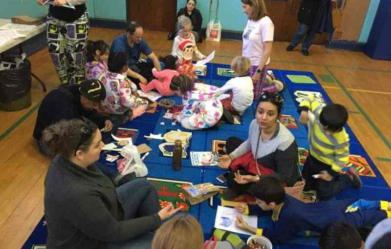 Webster Students Enjoy Literacy Pajama Party