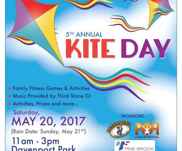 Kite Day May 20th at Davenport Park