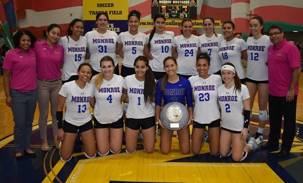 No. 20 Monroe Women's Volleyball Captures Seventh Straight Regional Title with Win over Harford