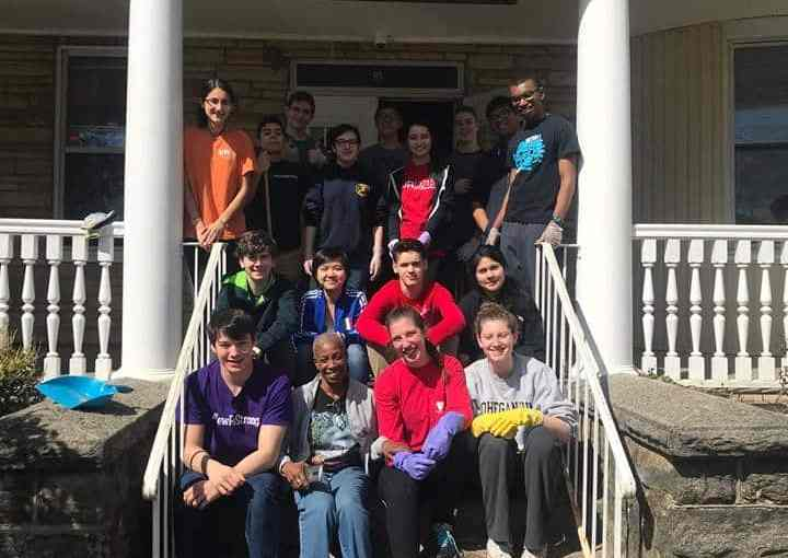 Thirty Students from the New Rochelle High School Chapter Helps Out at Providence House in New Rochelle