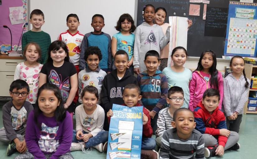 Mrs. Soto's Second-Grade Class at Trinity Elementary School Raised $254 in the Recent Pennies for Patients Campaign