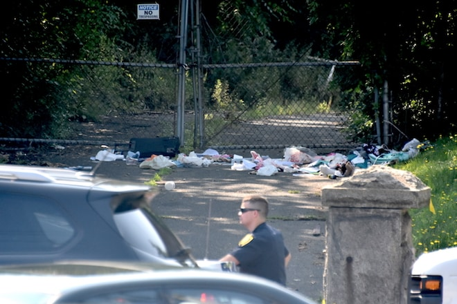 The body of Nurten Seljuk, 66, was found in the driveway of the New Rochelle Armory covered in trash