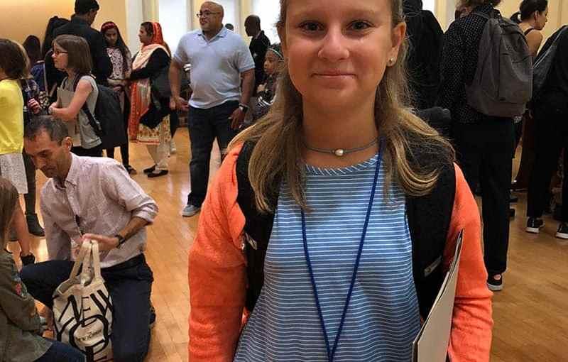 Hannah Klupt, a sixth-grader at Albert Leonard Middle School