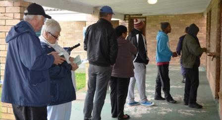 QUICK AND EASY: Voters for Ward 9 experienced an easy exercise when voting at the Station Hill Community Hall where queues moved fast and without incident