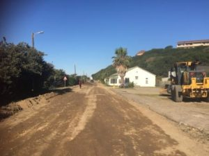 TWISTS AND TURNS - Construction machines on Port Alfred's picturesque Beach Road Picture: BRYAN SMITH