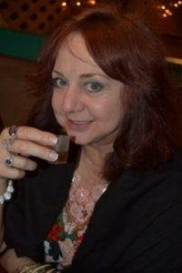 A TOAST TO LIFE: Jeanne Harris-Metter, better known to friends and fans as Flame, drinking hot mint tea at a local restaurant recently Picture: ROB KNOWLES