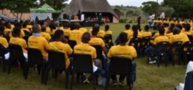 ASSISTING THE YOUTH: The Department of Social Development held its youth camp at Green Fountain Farm this week Picture: ROB KNOWLES