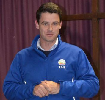 THE TIMES THEY ARE A'CHANGING: DA campaign manager for the Nelson Mandela Bay Metro, MP Andrew Whitfield, addressed party supporters at a gathering held at St Paul's Anglican Church last Wednesday evening Picture: ROB KNOWLES