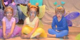 BUTTERFLIES IN MY TUMMY: From left, Alexa Stobie, Roseline Becker and Jamie Steele were some of the butterflies in the 'Very Hungry Butterfly' concert at El Shaddai Pre-primary on Friday 4 November