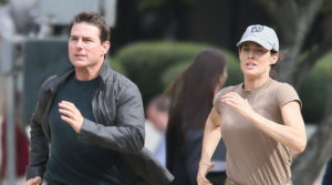 REACHING NEW HEIGHTS: Jack Reacher (Tom Cruise) and Major Susan Turner (Cobie Smulders) on the run from mercenaries from a private military company, Parasource, in 'Jack Reacher – Never go back'