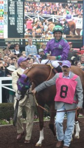 California Chrome and jockey Victor Espinoza. Photos by Terri Keith.