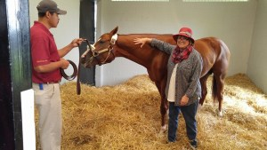 California Chrome and Sally Bonneau