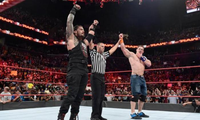 Cena returned to Raw for a one-on-one with Roman Reigns