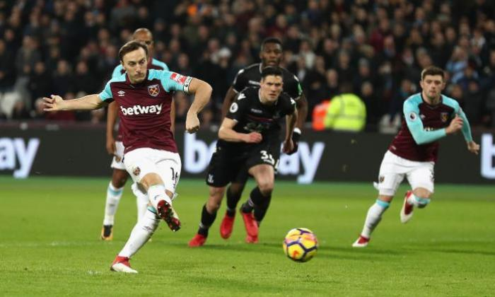 West Ham United 1-1 Crystal Palace: Mark Noble penalty cancels out ...