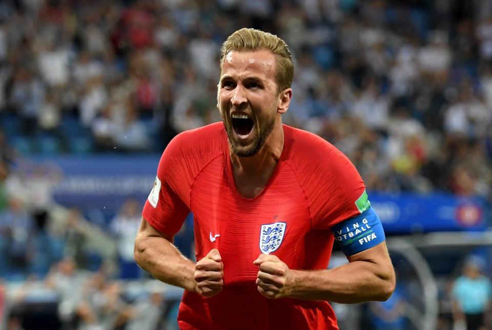 Captain Kane celebrates his winning goal in England's World Cup opener  Tottenham star Toby Alderweireld excited for Harry Kane showdown when England take on Belgium 2Kane