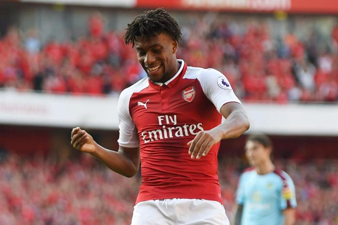 Iwobi in action for the Gunners