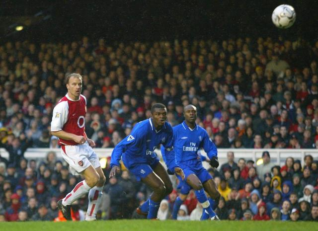 Dennis Bergkamp scored four goals in 17 Premier League games for Arsenal against Chelsea, giving him a ratio of 0.23 goals per game