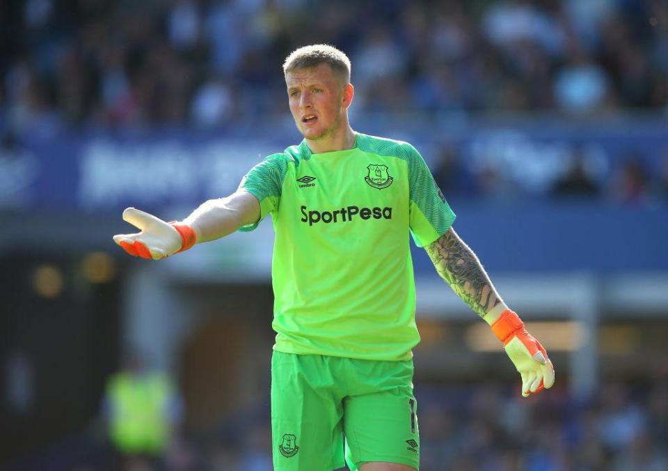 GOALKEEPER: Jordan Pickford  How Everton could look in the 2018/19 season including Richarlison, Lucas Digne and Denis Cheryshev GettyImages 956191078
