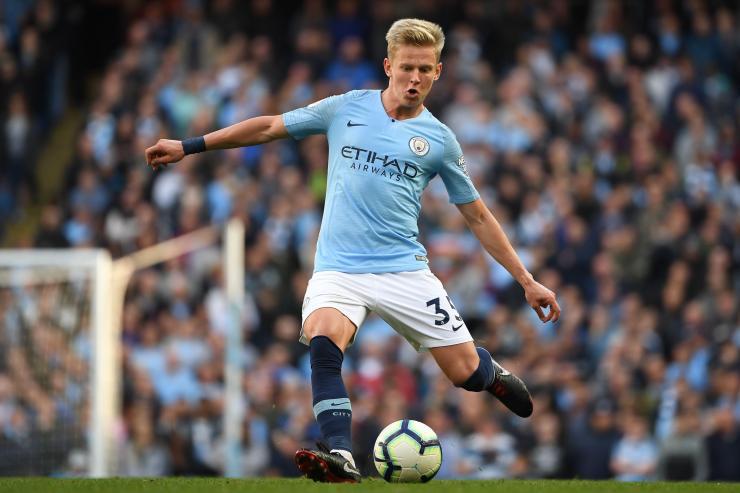 Manchester City starlet Oleksandr Zinchenko.