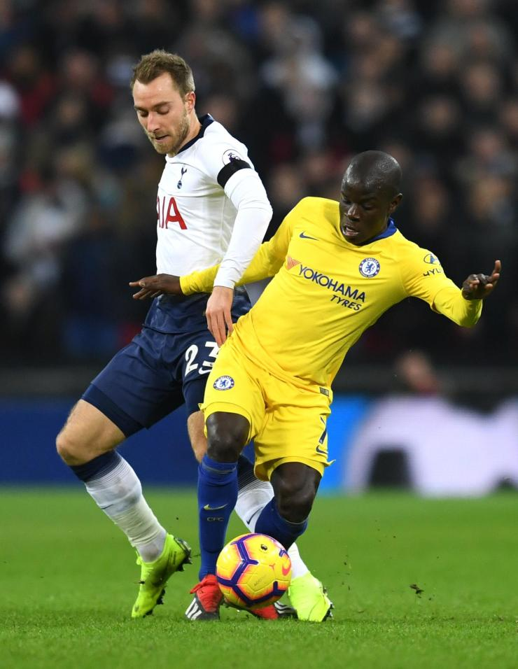 Kante was too high up the pitch against Spurs