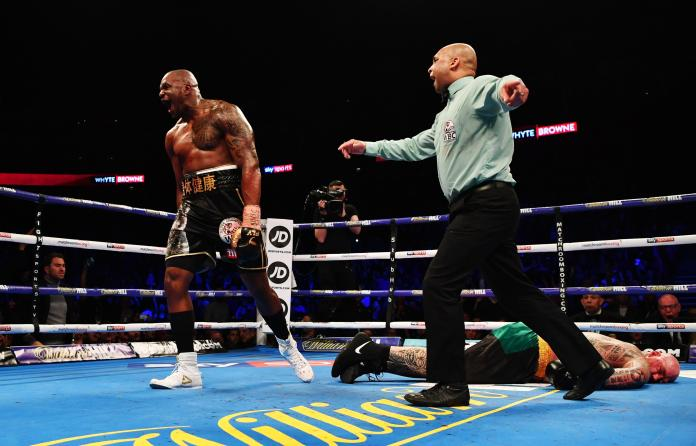 Whyte sent a big statement with his knockout win over Lucas Browne