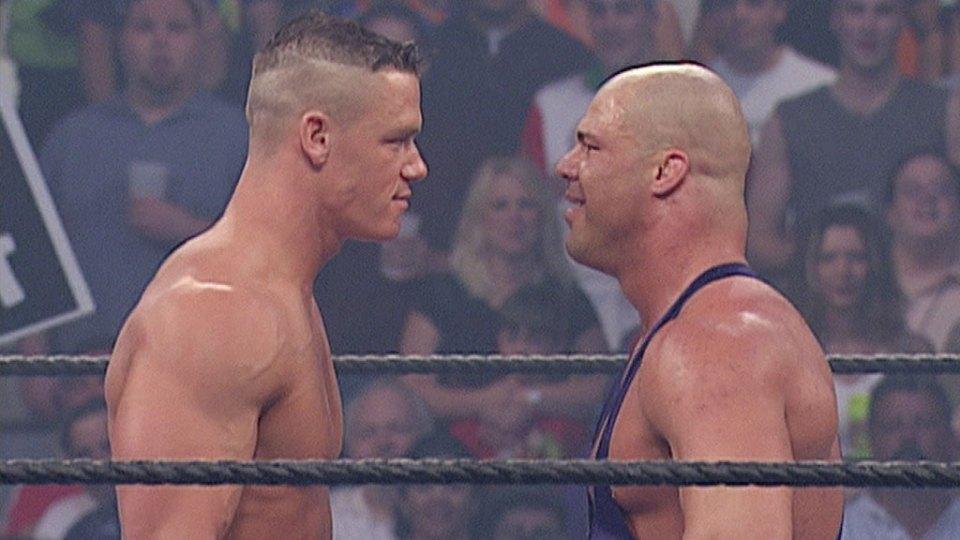 John Cena made his debut against Kurt Angle in 2002