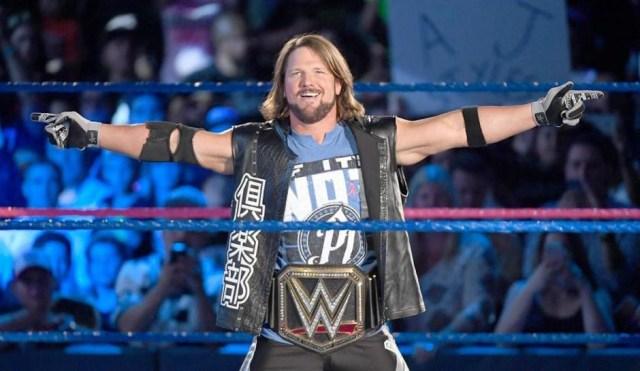 AJ Styles as WWE champ