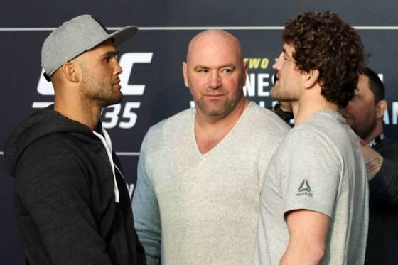 Askren took on Robbie Lawler on his UFC debut