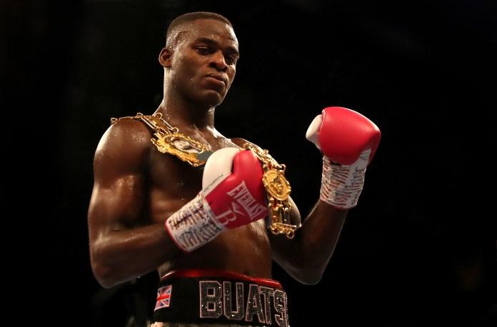 Buatsi won the British light-heavyweight title after just ten fights