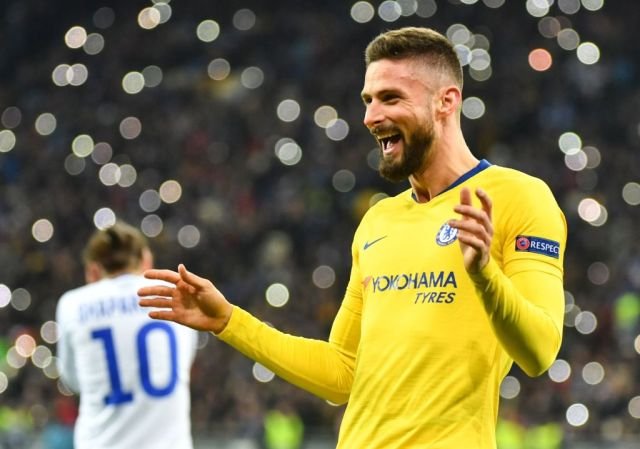 Giroud continued his impressive goalscoring record in this season's Europa League