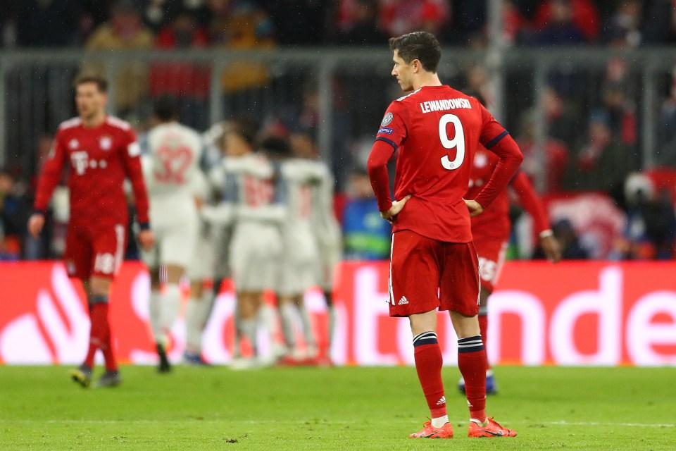 The Poland international was kept quiet across both legs