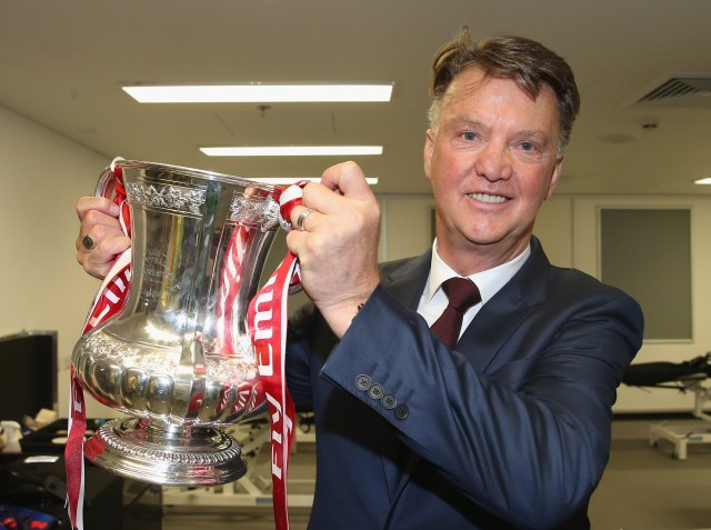 Louis van Gaal was sacked by Manchester United after winning the FA Cup