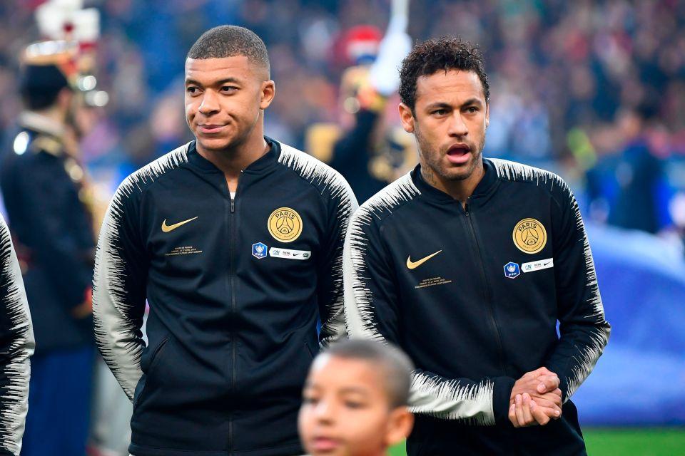 Paris Saint-Germain's French forward Kylian Mbappe and Brazilian ace Neymar