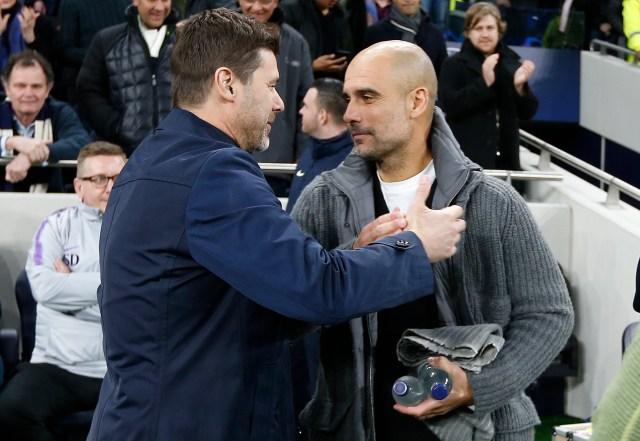 Mauricio Pochettino and Pep Guardiola will go head-to-head for a place in the Champions League semi-finals