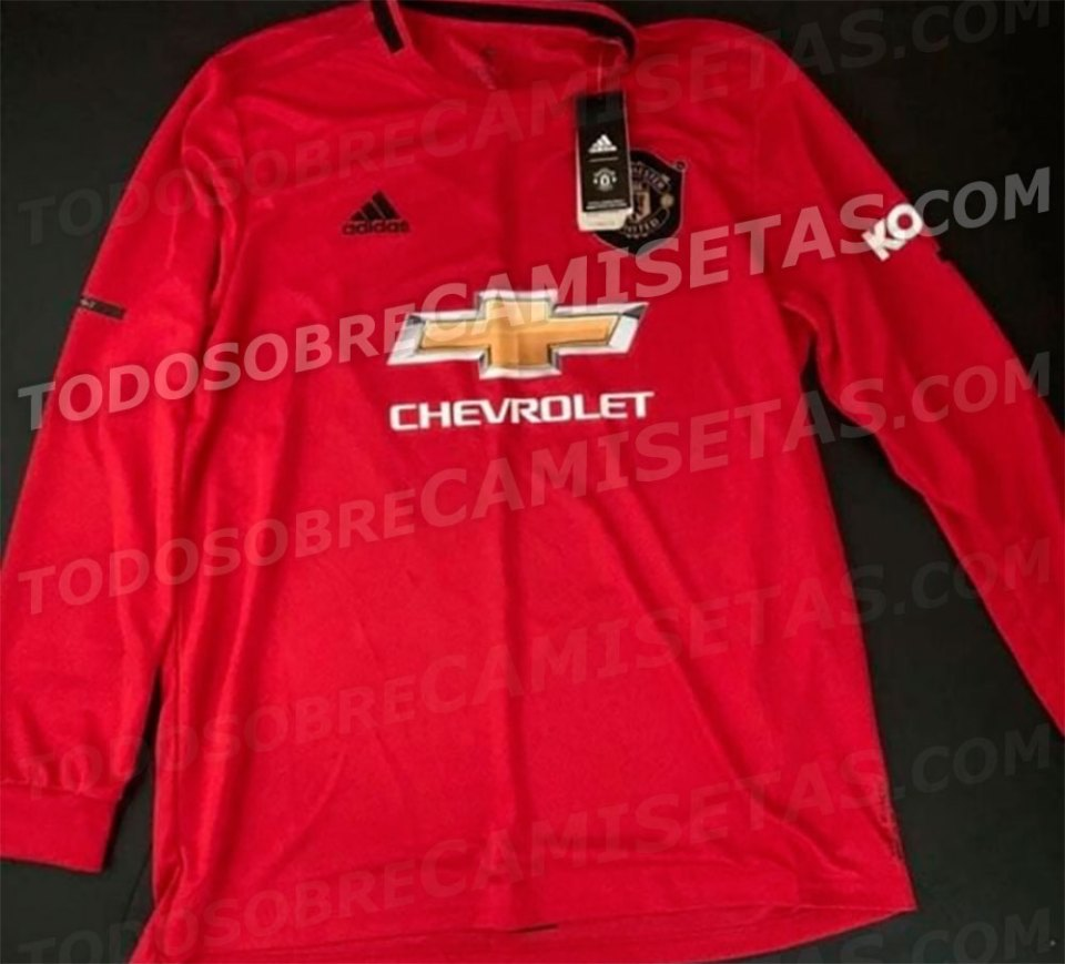 f554c0a0346 Leaked adidas Manchester United home kit for 2019 20 season features ...
