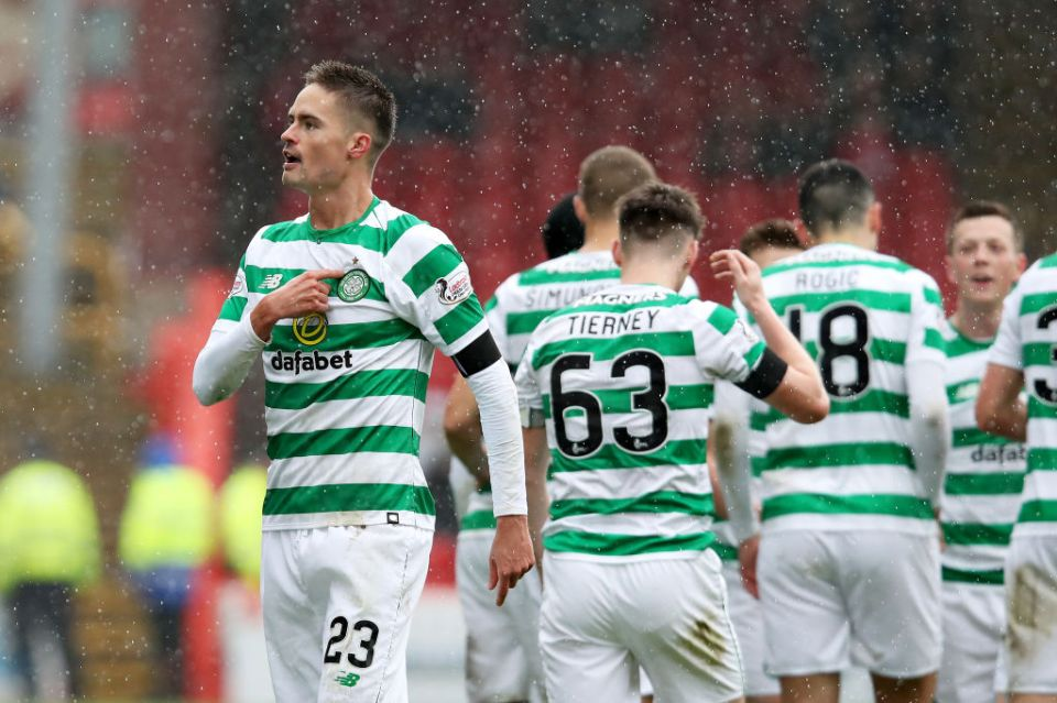 Lustig set Celtic on their way to victory