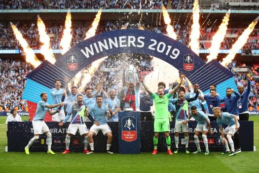 Manchester City kitman hilariously celebrates FA Cup ...