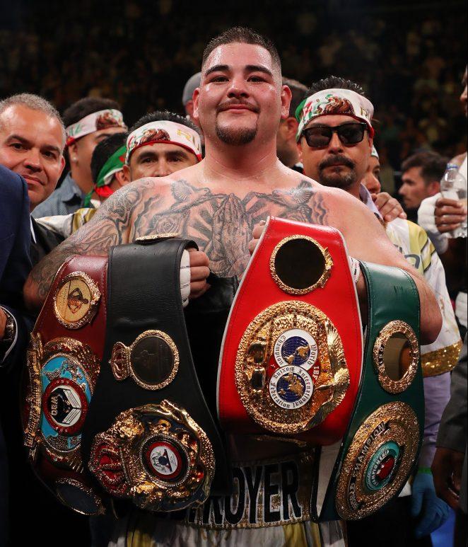 Andy Ruiz Jr is now the WBA, IBF and WBO heavyweight champion