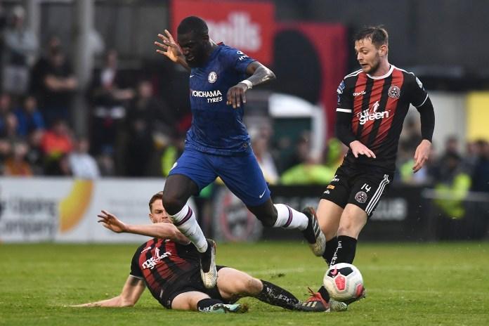 Tiemoue Bakayoko in action against Bohemians in an earlier pre-season friendly